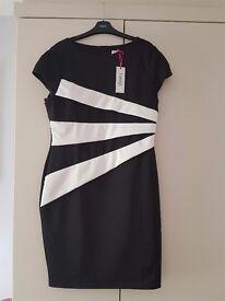 Black and white Lipsy dress, size 18