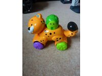 Fisher Price Leopard on Wheels toy baby toddler