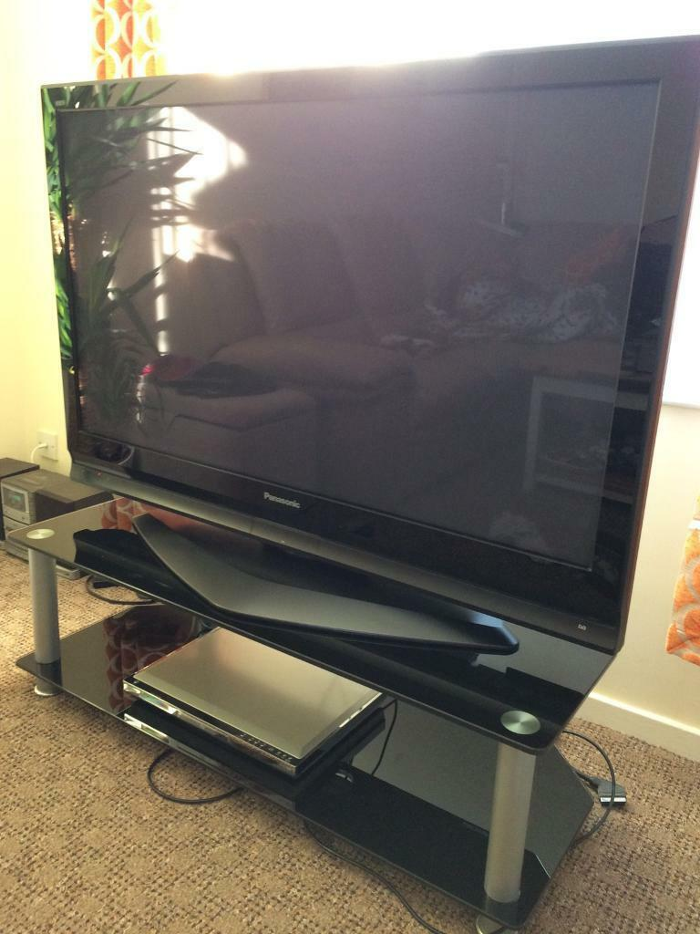 """Panasonic TV 50TV standPanasonic DVD Playerin Plymouth, DevonGumtree - Panasonic 50"""" TV TH50 PX70B for sale, the tv has 2 USB connections and many others please see pictures. It comes with a black glass tv stand and a DVD player that has not been used much, its a Panasonic DVD XV10.All is well looked after from smoke..."""