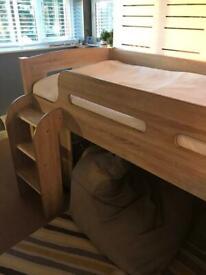 Oak effect cabin bed