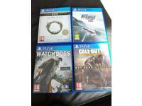 Ps4 games excellent condition most not used