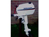 JOHNSON 4 HP 2 STROKE BOAT OUTBOARD 1997 S SHAFT