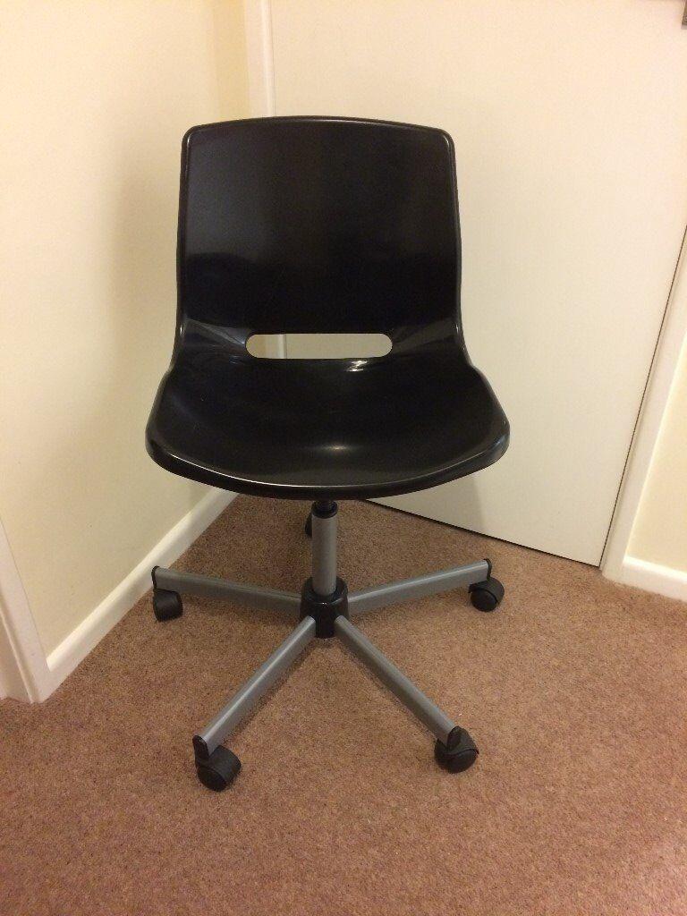 Black ikea swivel office chair in thornbury bristol for Ikea office desk chair
