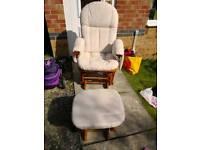 Rocking Nursing Chair and foot rocker