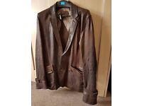 Reiss brown leather jacket (medium) - excellent condition, as new.