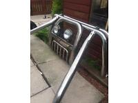 Mitsubishi L200 Chrome Front and Back Bars, Great condition £150