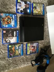 Playstation4 500GB Black Boxed with USB cables and headset. Games inlcuded.