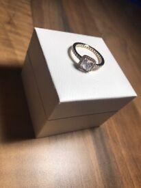 Pandora 14kt GOLD Timeless Elegance Ring Size 52