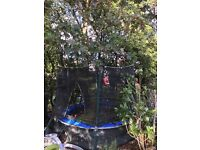8' Atlantic trampoline including steps, net & safety skirt & cover