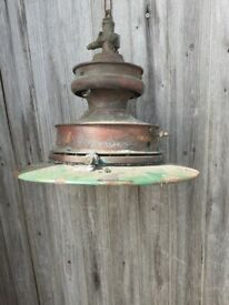 Old Copper Gas Light