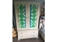 Lovely childs wardrobe with added 2 drawers. Ivory cream part of Islander range from GLTC