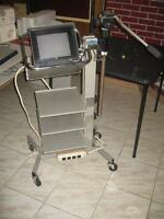 VIDEO RECORDING STAND BY HITACHI WITH 10 INCH. JVC MONITOR