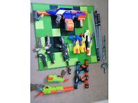Bundle of toy guns