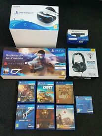 Playstation VR Headset. Farpoint. V2 Camera. Games Bundle. IMMACULATE £500