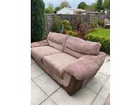 Sofa brown 2 seater x 1