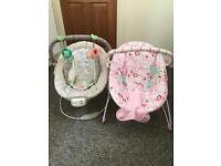 2 baby bouncy chairs