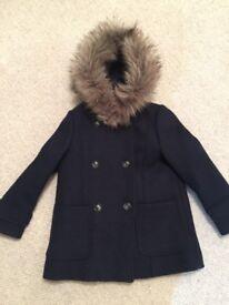 Girls Age 7 Zara Winter Coat