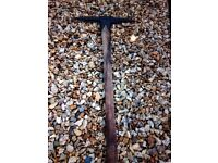 Vintage British Colliery coal mining miners pick axe, single wedge , ACME overpaintec