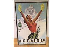 Retro ski print