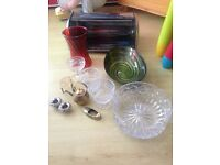 Bread bin, vase, fruit bowls etc