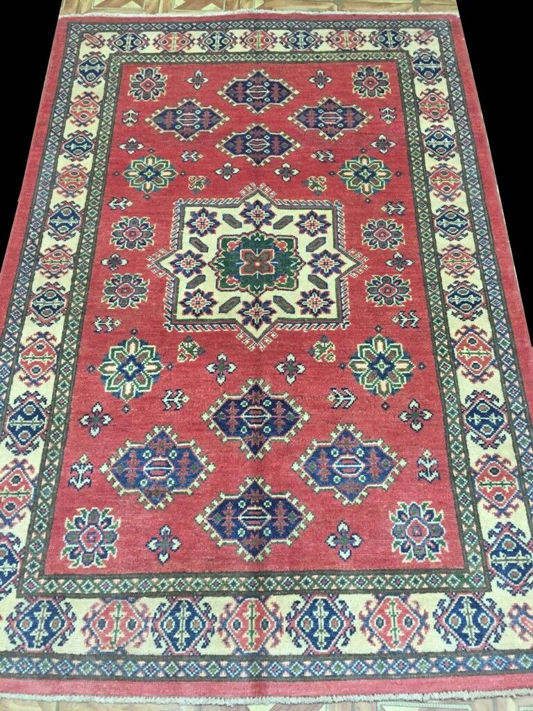 Antique Look Luxury Rug 4 x 6 Kazak Rug Handmade