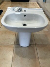 Bathroom Sink - Brand New Boxed - Wall Mounted