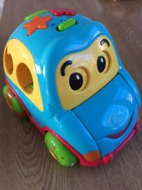 Musical shape sorter car