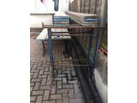 Builders tressles and scaffold boards