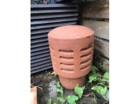 Vented terracotta chimney cowl gas