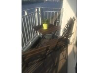 Ikea patio table and 4 chairs