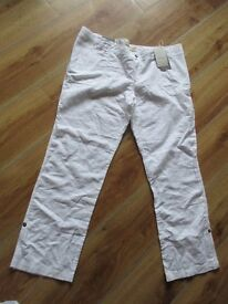 White linen maternity trousers - size 18 - from New Look