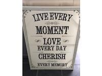 Live Love Cherish Picture.