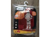 BNWT Star Wars Deluxe Stormtrooper dressing up costume age 9-10