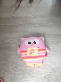 Owl soft toy light