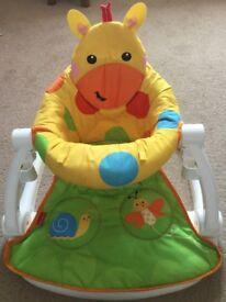 Fisher Price giraffe sit me up floor seat