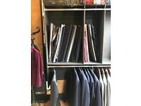 Large stock suit fabrics