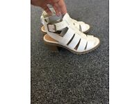 Brand New white sandals size 3 New Look