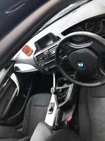 BMW 116 diesel in black 12 plate, free tax, air con, alloy wheels, Bluetooth, electric windows