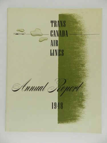 Vintage 1948 Trans Canada Air Lines Airlines Annual Report