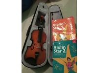 Child's violin with case