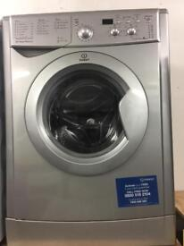 Indesit silver good looking 7kg 1200spin washing machine