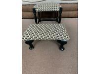 Up-cycled pair of vintage footstools