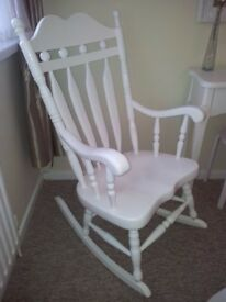 Lovely White Rocking Chair