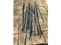 Metal components for constructing a heavy duty garden or allotment fruit frame.