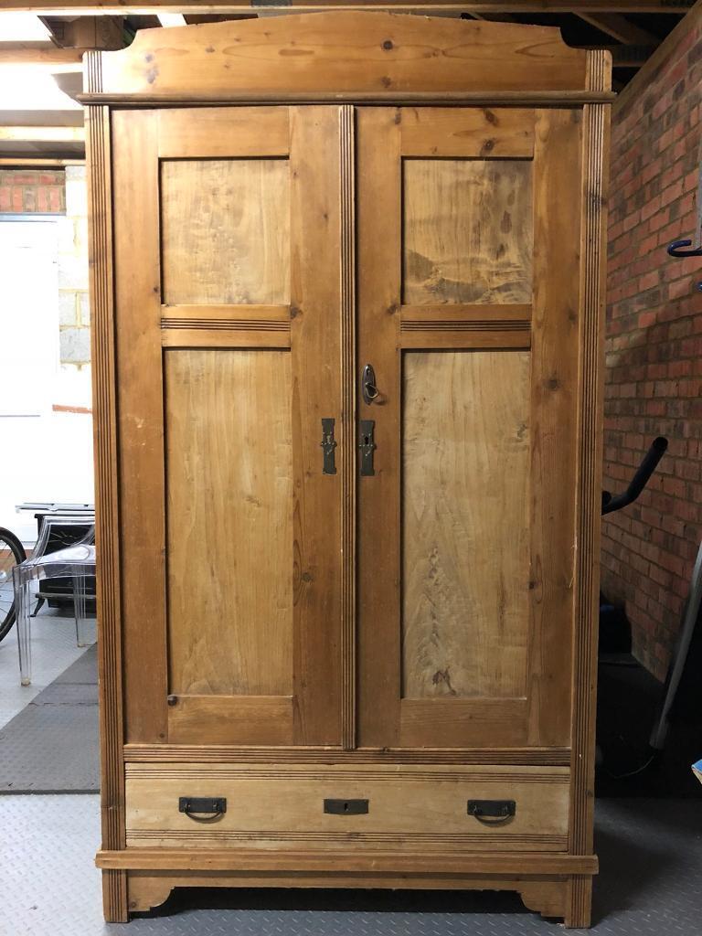 Lovely old antique pine wardrobe.