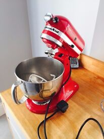 Red Kitchen Aid Artisan Mixer 4.8l Food Mixer Baking Equipment.