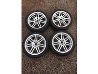 """18"""" Audi Rs4 Style Alloys 5x112 Avon Tyres"""