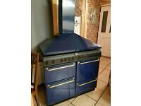 Balling country range 100cm gas cooker and hood (able to deliver)