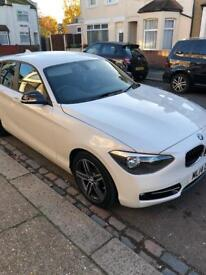 Bmw 1series 116d sport 1 Lady owner, 35,000miles 5dr Pearl white£8995