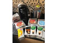 Tassimo coffee machine, rotating stand and coffee pods